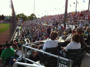Warner Park 1st Base Crowd - Madison, WI
