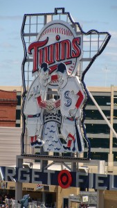 Minnesota Twins Sign - Target Field - Minneapolis, MN